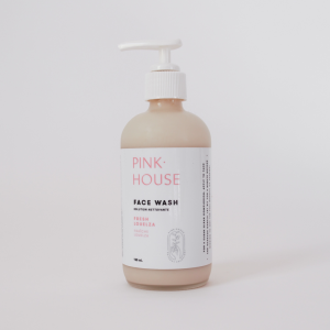Pink house face wash